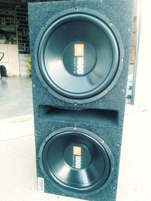 JBL 1000 Watt 12 inch speakers & Box for Sale in Sewell, NJ