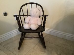 Antique child's rocking chair stamped on the bottom 1887 for Sale in Chula Vista, CA