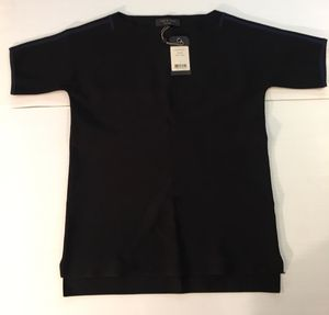 """RAG & BONE BLACK ROXY TUNIC Plus size SMALL S New With Tags NWT ($350 New). Back with a Dark Blue stripe on the shoulder Pit to pit 21"""" Front of ne for Sale in Los Altos Hills, CA"""