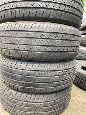 Set 4 usted tire 235/60R18 BRIDGESTONE one have patch set 4 used tire $200 for Sale in Alexandria, VA