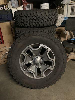 Jeep rubicon wheels OBO for Sale in Fresno, CA