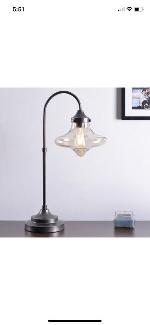 Mid Century Glass Arc Bronze table lamps (set of 2) for Sale in Silver Spring, MD