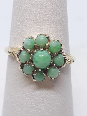 10k yellow gold jade ring 3 grams size 7 for Sale in Fort Pierce, FL