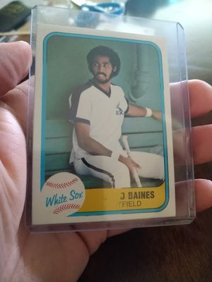 Chicago White Sox Harold Baines 1981 Fleer Rookie Error baseball card plus team set Baseball Cards for Sale in Tampa, FL