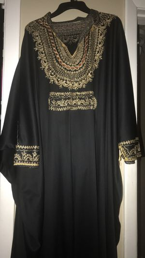 Black and gold dress abaya for Sale for sale  Paterson, NJ