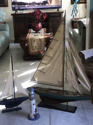Two ships lighthouse one big and almost new small ship good condition all 50 for Sale in New Port Richey, FL