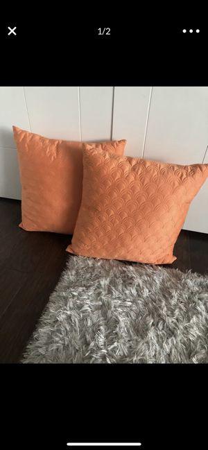 2 modern orange throw pillows for Sale in Covington, WA