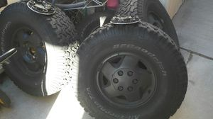 Gmc Chevy rims and tires bfg 295/75r16 for Sale in Las Vegas, NV