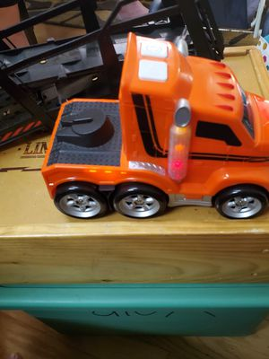 Big orange truck with a loader for Sale in Land O Lakes, FL