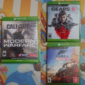 Xbox one games for sale - modern warfare, gear of war 5, Forza horizon 4 for Sale in Los Angeles, CA