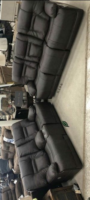 🍒 BEST Offer EXCLUSIVE] Wurstrow Smoke Leather Power Reclining Living Room Set 82 for Sale in Jessup, MD