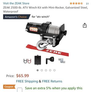 Zeak Atv Winch for Sale in Palmdale, CA