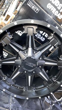 Mudster off road 20x9 6x135 6x139 rims with tires full package for Sale in Madison Heights,  MI