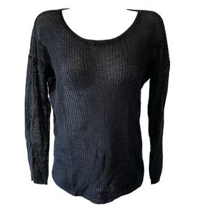 Design History Size S Black Sheer Sweater Long Sleeve Top for Sale in Los Angeles, CA