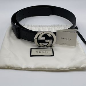 Gucci Signature Leather Belt -Black for Sale in Arlington Heights, IL