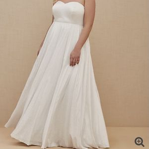 WHITE LEOPARD SATIN STRAPLESS WEDDING DRESS for Sale in Manchester, CT