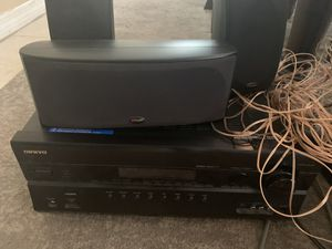 Surround sound speakers and receiver for Sale in Tampa, FL