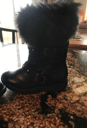 Girls black boots New size 7c Toddler for Sale in Pasco, WA