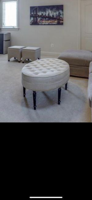 Tufted ottoman for Sale in Ashburn, VA