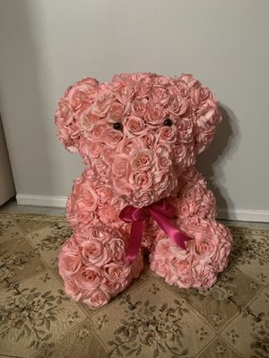 Teddy bear made of flowers for Sale in New York, NY
