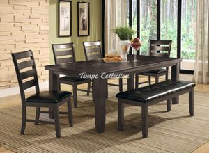 Dining Set with Extendable Table and Bench, Grey, SKU# MLT8810TC for Sale in Norwalk, CA