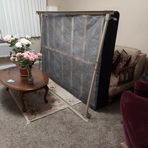 New Full Size Sealy Posturpedic Box Spring and Gently Used Bed Frame, for sale. for Sale in Portland, OR
