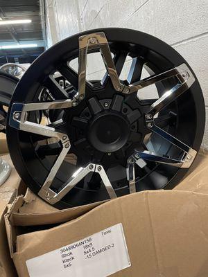Jeep Wheels 18x9 TOXIC WHEELS DAMAGED for Sale in Franklin Park, IL