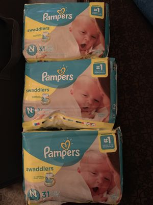 Pampers swaddlers newborn for Sale in Denver, CO