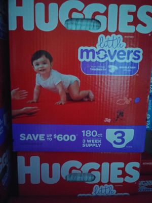 Big boxes huggies little movers for Sale in Las Vegas, NV