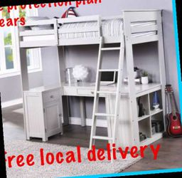 Twin bed.desk bookcase. Free local delivery. Check the description for more information for Sale in Ontario,  CA