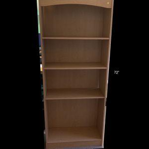 Oak Finish Laminate Bookshelf (2 Available) for Sale in Puyallup, WA
