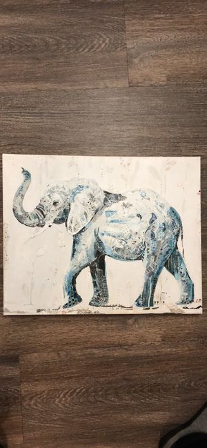 Elephant painting on canvas for Sale in Newberg, OR