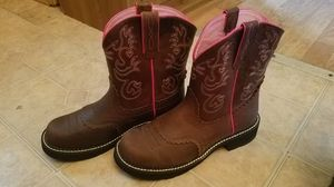 Pink and brown Boots women's 10 for Sale in Spring Hill, FL