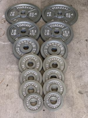 "255 LB Standard Steel Olympic Weight Plates - 2"" for Sale in Huntington Park, CA"