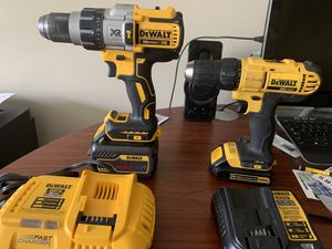 20V Max XR 3 speed Hammer Drill and 20V Max Drill Driver 6.0 AH 60V Flex Volt Battery and Fast Charger for Sale in St. Petersburg, FL