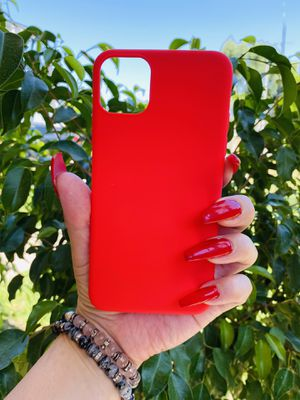 Brand new cool iphone 11 PRO MAX 6.5 case cover phone case rubber red basic simple girls guys mens womens skate skateboard swag brands hype hypebeast for Sale in San Bernardino, CA