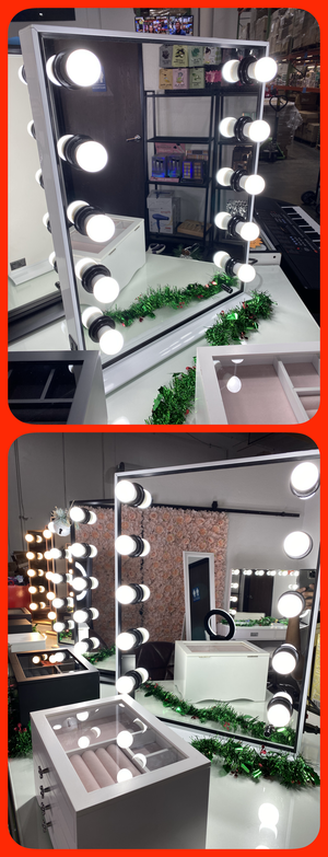 """💋💄💡26"""" x 20"""" Hollywood Style LED Vanity Mirror with Dimmable Light Bulbs for Makeup Vanity Table Set in Dressing Room💋💄💡 for Sale in Pomona, CA"""