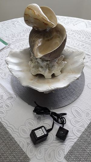 Sculpted Seashells water fountain for Sale in Land O Lakes, FL