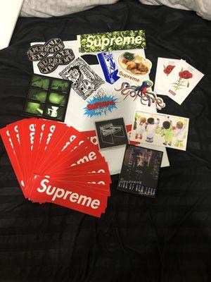 Authentic supreme Hypebeast deadstock stickers boxlogo and accessories for Sale in Dallas, TX