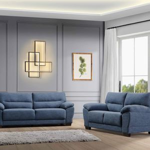 NEW MENDOZA FABRIC SOFA AND LOVE SEAT IN BLUE ONLY $699. NO CREDIT CHECK OR ONE YEAR DEFERRED INTEREST FINANCING AVAILABLE for Sale in Brandon, FL