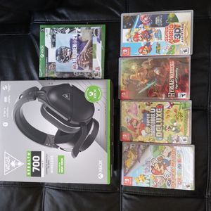 Nintendo switch Games And Turtle Beach Headset BRAND NEW for Sale in Minneapolis, MN