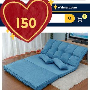 Brand new!Folding Floor Sofa, 70*46inch,Futon Chaise Lounge Sofa Gaming Chair Floor Couch ,Adjustable Floor Sofa , Sleeper Sofa (blue Color) for Sale in Hacienda Heights, CA