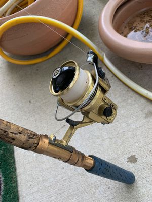 Daiwa gs-20 fishing reel with pole for Sale in Elgin, IL