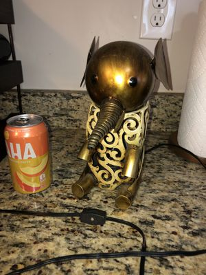 Gold elephant lamp (can for size) for Sale in Charlotte, NC