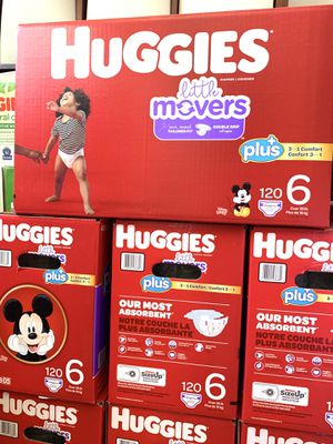 Huggies little movers size 6(120) diapers $47 per box for Sale in Gardena, CA