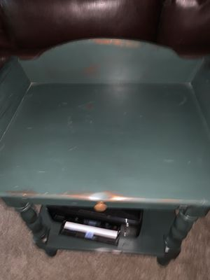 Green distressed end table / nightstand for Sale in Lake Oswego, OR