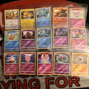 Pokémon Holo reverse card set 34 hidden fates for Sale in El Monte, CA