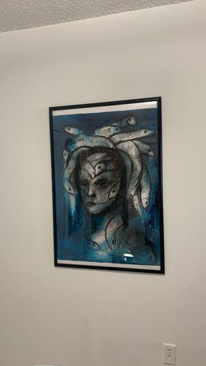 Medusa original paint, painter Junier delgado castillo for Sale in Hialeah, FL