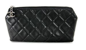 CHANEL Black Lambskin Quilted Cosmetic ***Bag Authenticity Code:12474506*** for Sale in Scottsdale, AZ