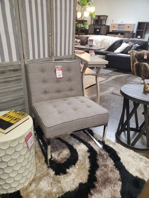 Stylish Chrome Accent Chair, Grey for Sale in Santa Ana, CA